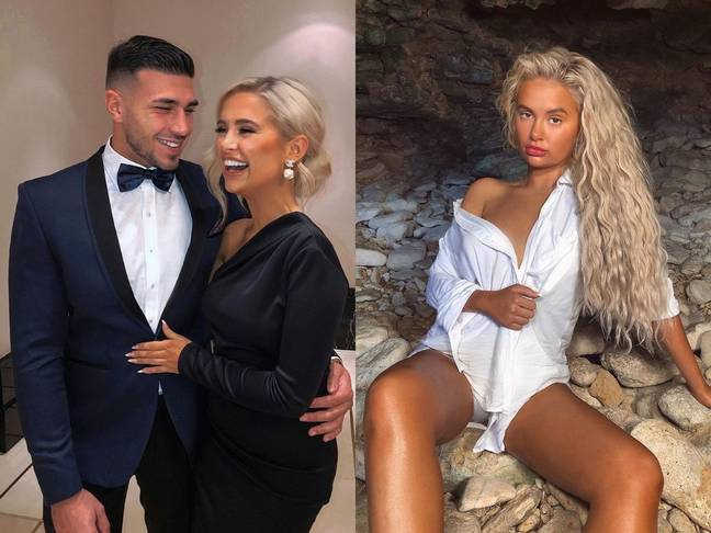 Love Island's Moll-Mae and Tommy are still together (left). Filter by Molly-Mae (right) ' Credit: Instagram/mollymae