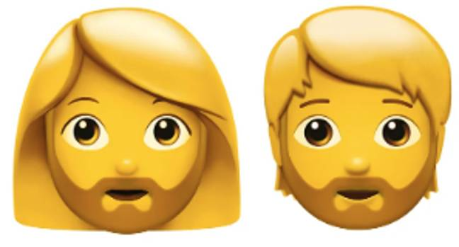 Beards will be available on male and female presenting emojis (Credit: Apple)