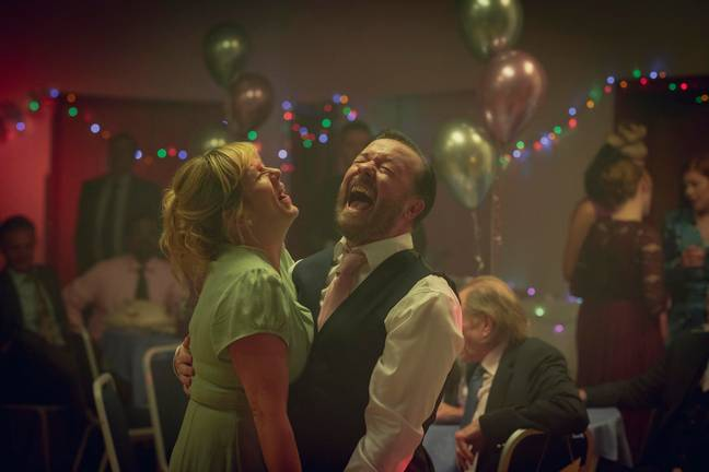 Ricky Gervais plays Tony, and Kerry Godliman plays his late wife Lisa (Credit: Netlfix)