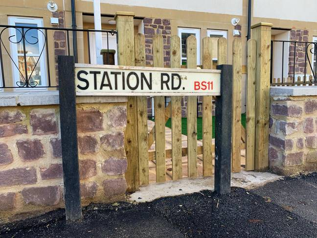 The Station Road sign blocks the gate of entry (Credit: Bristol/BPM)