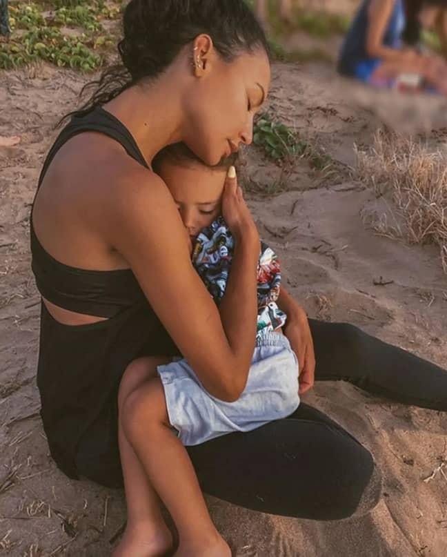 Naya Rivera and her son Josey (Credit: Naya Rivera/ Instagram)