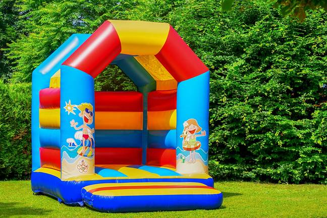 Who wouldn't want a bouncy castle in their back garden? (Credit: Pixabay)