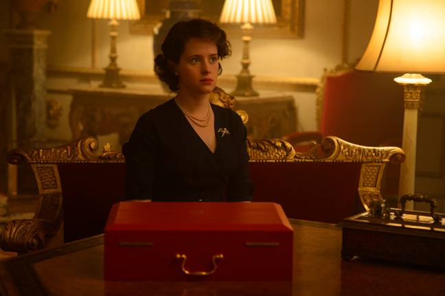 The iconic red briefcase has appeared regularly throughout 'The Crown' (Credit: Netflix)