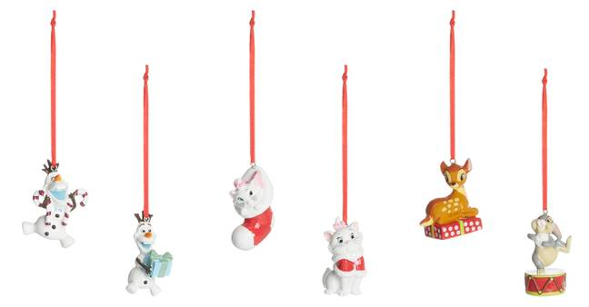 Frozen, Aristocats and Bambi all get their own decorations, which will be £5 each in Primark (Credit: Primark)