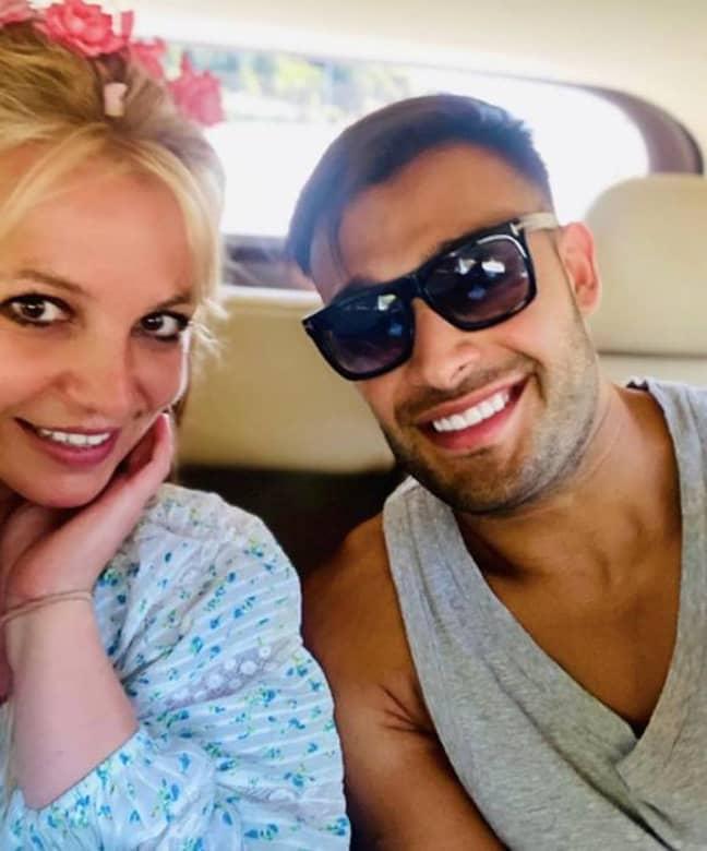 Britney's boyfriend spoke out against Jamie Spears (Credit: Instagram/ Sam Asghari)