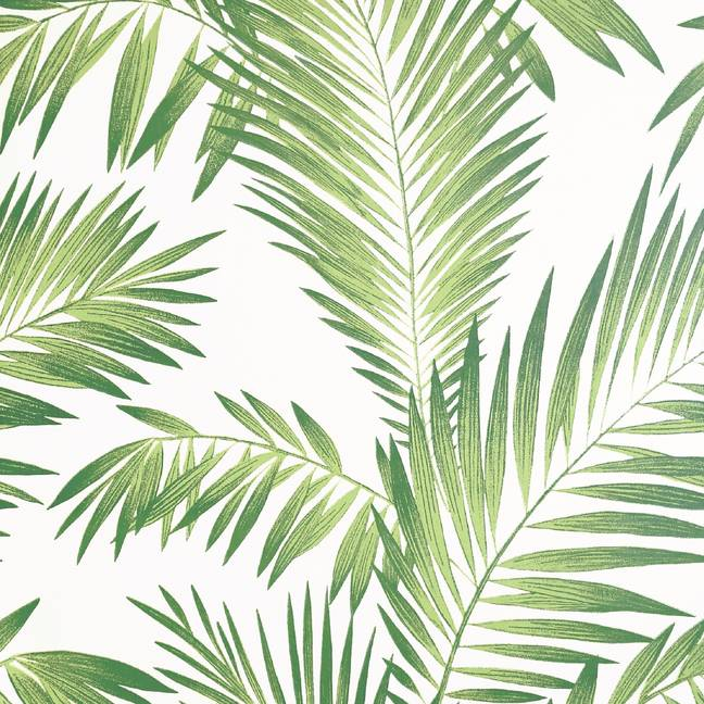 The wallpaper has a pearlescent background to reflect light and is perfect for the summer (Credit: Wilko)