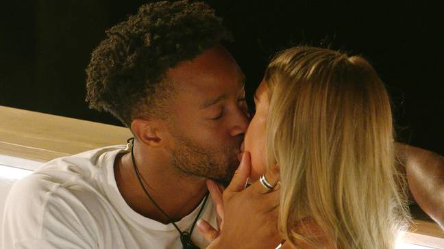 Teddy and Faye had a kiss in Monday's episode (Credit: ITV)