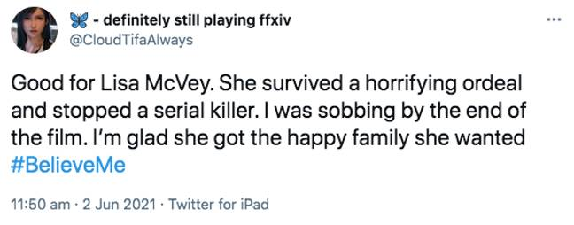 Viewers were in tears by Lisa's story (Credit: Twitter)