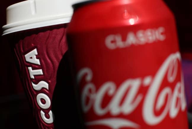 Coca Cola bought Costa Coffee in 2018 (Credit: PA)