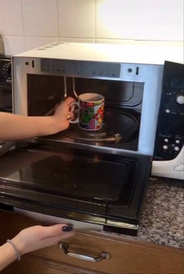 The tea was heated in the microwave (Credit: TikTok/@jchelle28)