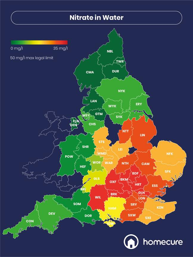 Map Reveals UK's Worst Areas For Hair And Skin Thanks To Local Water Quality (Credit: Homecure Plumbers)