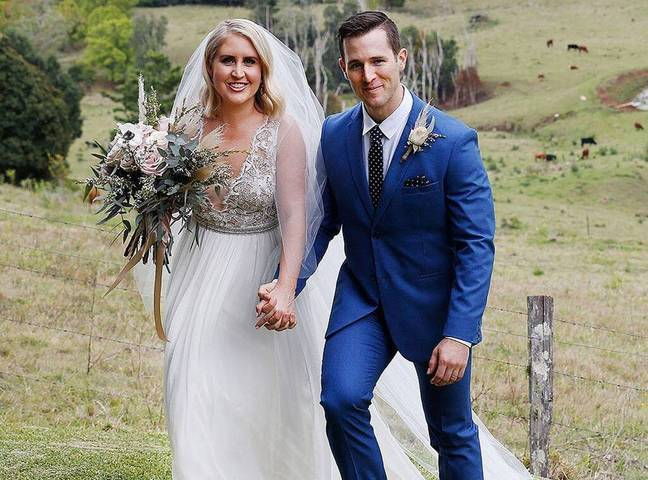 Matt said he couldn't go to the toilet on their wedding day (Credit: Channel Nine)