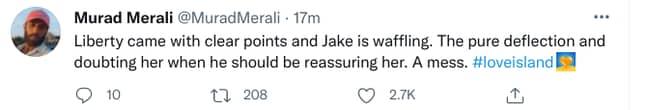 Jake sure was waffling