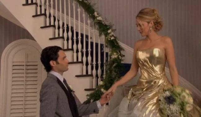 In the series finale Dan Humphreys married Serena van der Woodsen. (Credit: The CW)