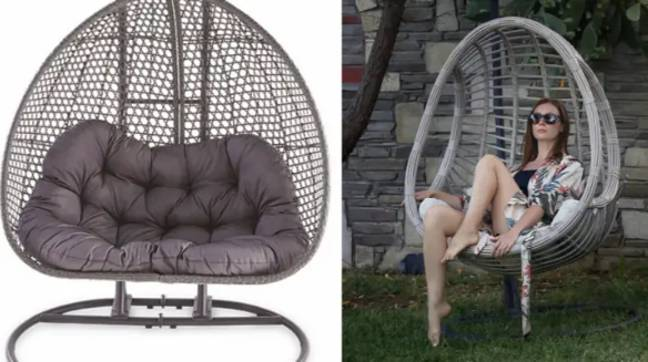 You can get your hands on the egg chair in July (Credit: Aldi/Shutterstock)