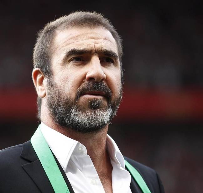 Eric Cantona (Credit: Twitter/FootballFactly)