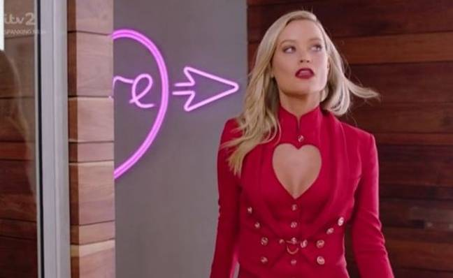 Laura Whitmore is the host of the regular Love Island (Credit: ITV)