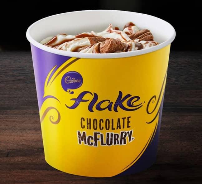 The classic Chocolate Flake McFlurry (Credit: McDonald's)