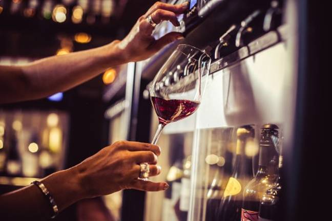 Vagabond allow you to choose your wine with the press of a button Credit: Vagabond