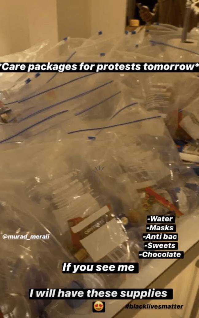 Amber Gill shared care packages with other protesters (Credit: Instagram/ Amber Gill)