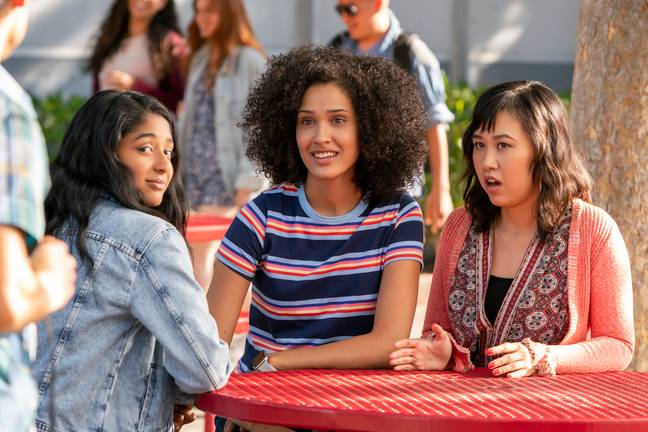 Ramona Young and Lee Rodruigez star as Devi's best friends Eleanor and Fabiola (Credit: Netflix)