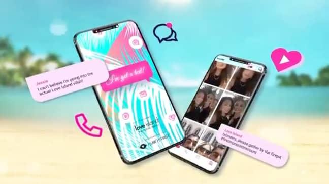 Love Island new app I Got A Text! (Credit: Twitter/unrd)
