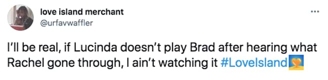 Brad's behaviour left a lot to be desired (Credit: Twitter)