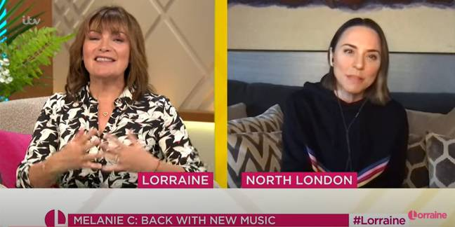 Mel C broke the news while talking to Lorraine (Credit: ITV)