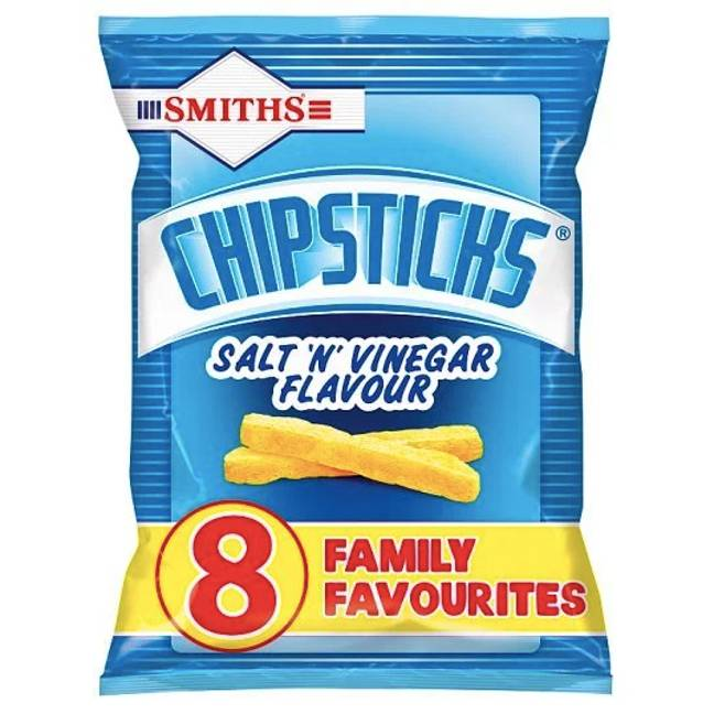 Currently Salt and Vinegar are the only flavour Chipsticks available. Credit: Smiths/Walkers