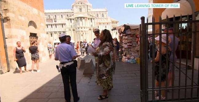 Alison attempted to calm tensions with the Italian police. Credit: This Morning / ITV