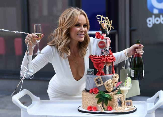 Before she made the trip to Cornwall on Friday, Amanda celebrated her birthday during her Heart Radio show (Credit: PA)