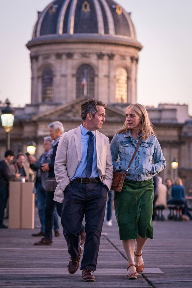 It stars Tom Hollander and Saskia Reeves (Credit: BBC)