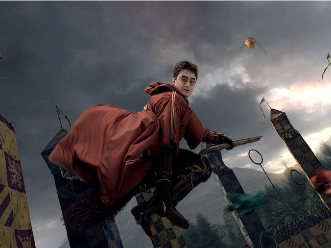Follow Harry as he plays Quidditch (Credit: Warner Bros)