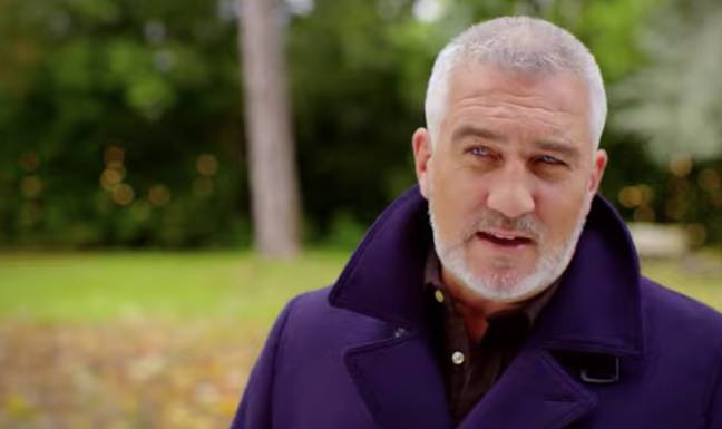 Paul Hollywood doesn't look too impressed with the celebs (Credit: Channel 4)