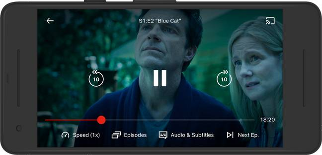 The decreased speeds are also handy for those with impaired hearing or vision (Credit: Netflix)
