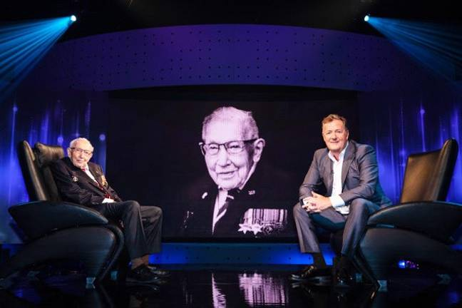 The 100-year-old veteran joined Piers to talk about family, life in the military and fund-raising for the NHS (Credit: ITV)
