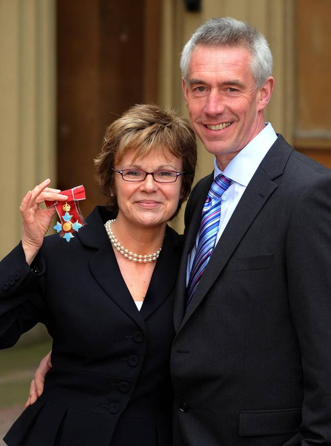 Dame Julie and husband Grant in 2008 (Credit: PA)