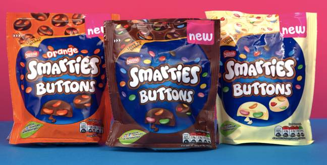 Smarties buttons have also recently launched (Credit: Nestle)