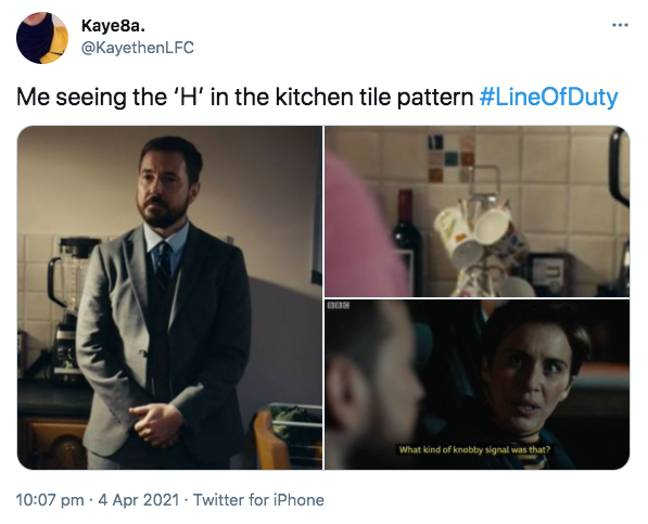 Fans have their eyes on a new theory after Sunday's Line of Duty (Credit: Twitter)