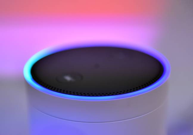 The Amazon Alexa lit up blue alerting Bella of the post on its way (Credit: PA)