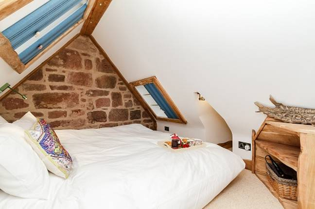 There are four bedrooms, three with twin beds and one with a double (Credit: Old Knock Castle)