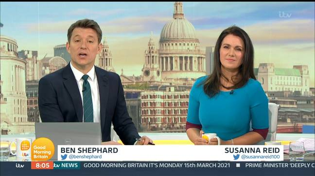 Susanna Reid discussed the images on Good Morning Britain (Credit: Shutterstock)