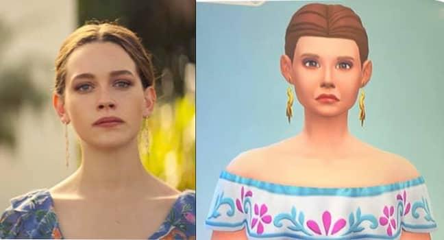 Love Quinn's virtual version even boasted a similar dress and earrings (Credit: Facebook/Keri Lynn)