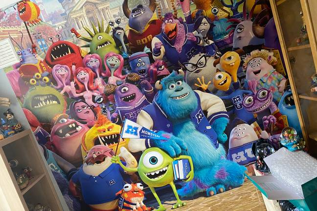 Look at this 'Monsters Inc' wall! (Credit: Caters)