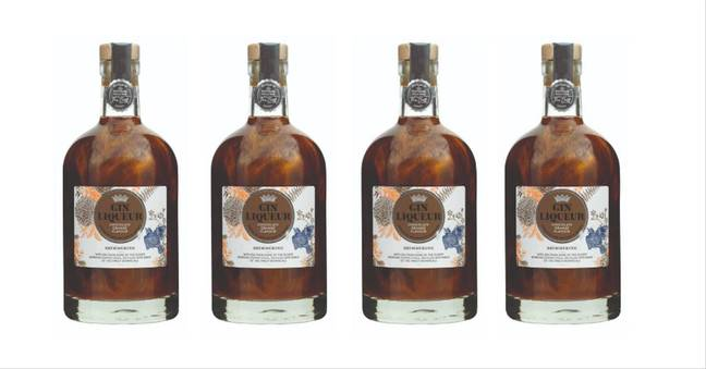 Morrisons is getting glittery too with its chocolate orange gin liqueur that shimmers (Credit: Morrisons)
