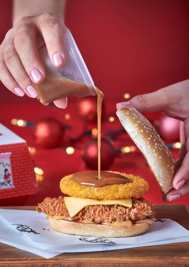KFC'S Gravy Burger looks epic (Credit: KFC)