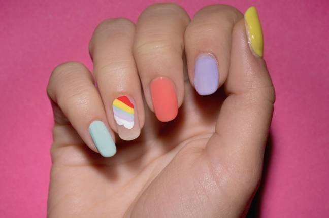 Superdrug have a cute spin on rainbow nails (Credit: Superdrug)