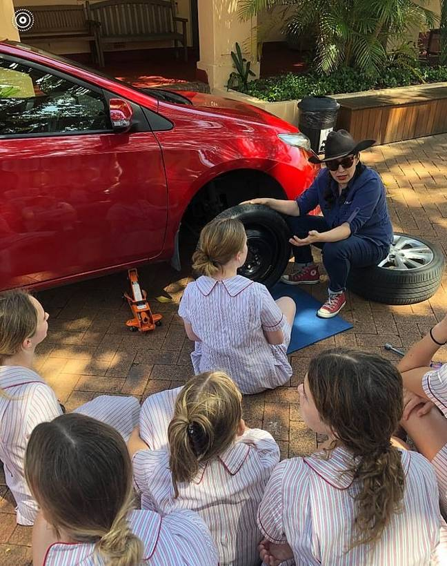 Car maintenance is an essential life skill (Credit: Facebook/Stella Maris College)
