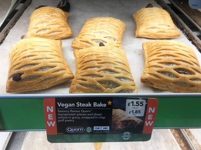 The Vegan Steak Bake launched earlier this month (Credit: PA)