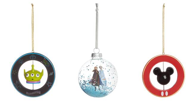 Primark have made our dreams come true with their magical Disney bauble collection. Toy Story, Peter Pan and Mickey Mouse decorations will be £5 each (Credit: Primark)